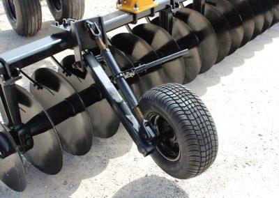 F15 Double Offset Tandem Disc Harrow front wing depth gauge wheel