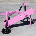 Pink Offset Rotary Ditcher
