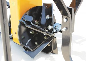 AMCO Ditchers now feature five reversible blades on the cutter heads for better ditch clearing. A second set of bolt holes on the cutter heads means users get four life cycles out of their reversible blades.