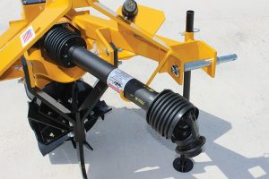 Securing the PTO drive shaft for storage is now easy with the addition of a PTO drive shaft parking hook on the side of the unit.