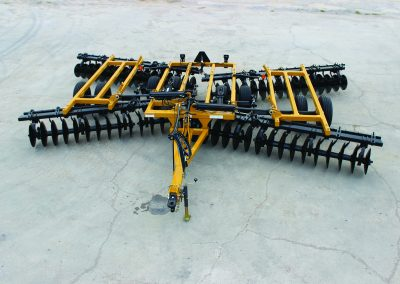 AMCO F15B Folding Disc Harrow - overhead view from front